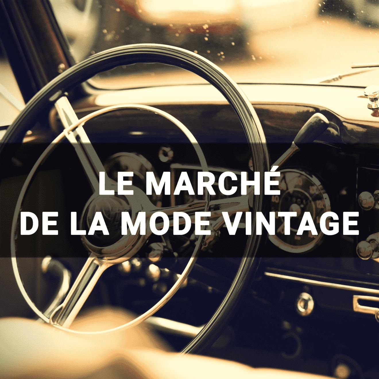 Intérieur de voiture vintage - le marché de la mode vintage