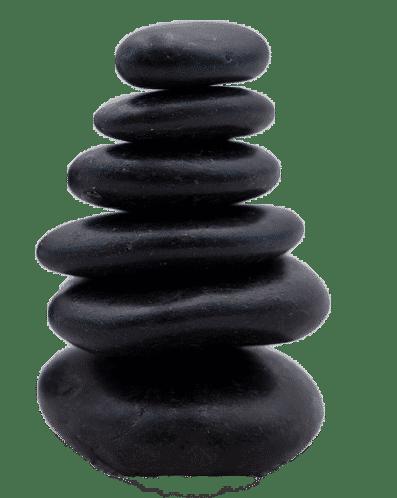 Galet pour massage de pierres chaudes empilés